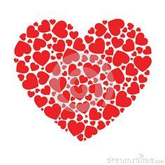 Heart made of small hearts
