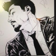 #ironman #process #inks #photoshop #tonystark #marvel #comics #davidmarquez