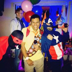 """Two Super Heroes and Me as Russell from """"Up"""""""