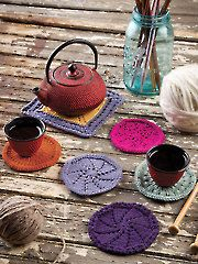 Use Premier® Yarns Home Cotton™ (available here: http://www.anniescatalog.com/collections.html?collection_id=1014) to knit this Coasters & Trivet Knit Pattern from Annie's. Order the pattern here: http://www.anniescatalog.com/detail.html?prod_id=109607&cat_id=1175.
