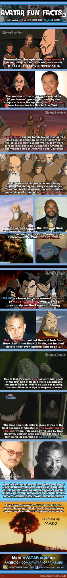 Avatar Fun Facts #3  That makes Tales of Ba Sing Se even sadder... and I cry every time I see it.