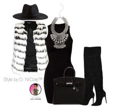 """""""Untitled #2828"""" by stylebydnicole ❤ liked on Polyvore featuring River Island, Element and Hermès"""