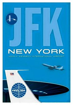 Pan Am JFK New York Airport Poster (1960s)
