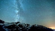 Time lapse video of milky way traversing the Swiss Alps from Susten Pass. It was hazy and windy that night. The light pollution on the right hand side comes . Light Pollution, Swiss Alps, Milky Way, Youtube, Youtubers, Youtube Movies