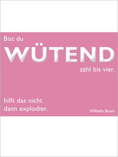 Postkarte Busch, Wütend
