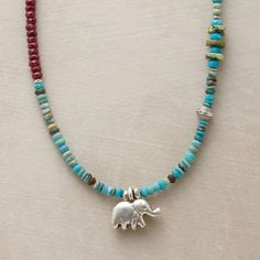 ELEPHANT CHARM NECKLACE: View 1