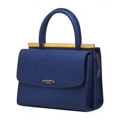Bag / bolsas Bolsa de mão Bolsa de couro feminina carmim mafalda azul - Carmim Store