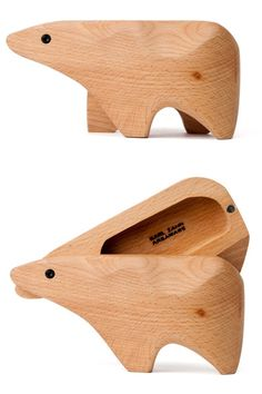 Wooden Animals Boxes