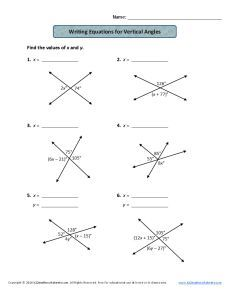 Angle Relationships: Supplementary, Complementary, and Vertical ...