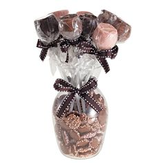Vaso de flores com trufas e dragees - Sucrier. Valentines Day, Perfume Bottles, Sweet, Beauty, Decor, Makeup Storage, Curtains For Kitchen, Gifts, Vases