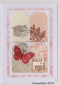 Set of two Tag Cards by SouvenirdelaFrance on Etsy