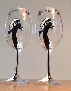 Beautiful hand painted wine glasses!