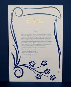 Ballagó diákokat búcsúztató emléklap. Címfelirat magasfényű arannyal nyomva. Méret: A/4 (21x29,7 cm). Ár: 134 Ft/db.