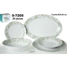 Vajilla 20 pzas porcelana floral