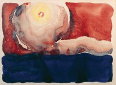 #FlashArtFact: Evening Star: Georgia O'Keeffe's Watercolor Wonder  As a young art teacher in the Lone Star State, Georgia O'Keeffe created a series of watercolors of the night sky in Texas. Her color palette was simple and her compositions stark, but the results are nothing less than wondrous. 😍   #georgiaokeeffe #arthistory