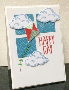 Swirly Bird, Stampin-Up!  (Pin#1: Nature:  Rain/ Clouds.  Pin+: Airplanes...Kites; Inchies).