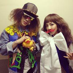 """DARA: """"GD&TOP?!? No no no no!!! We're V-Dragon & Doom Dara#YGFAMILYPOWERTOUR2014"""""""