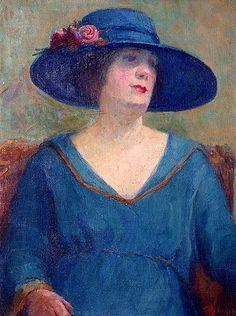 Tarsila do Amaral  (Brazilian, 1886 -1973) - Blue Hat, 1922