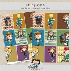 SoMa Design: Study Time - Cards Digital Scrapbooking, Study, Comics, Cards, Kit, Design, Studio, Comic Book