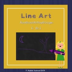 Harold and the Purple Crayon Line Art No Prep Purple Crayon, Simple Line Drawings, Elements Of Art, Children's Literature, Simple Lines, Teacher Newsletter, Line Art, Art Lessons, The Book
