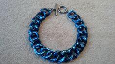 MIMCO Nebula Acrylic Chain Choker Blue Electric by BrownJewels