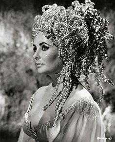 """Elizabeth Taylor as Helen of Troy in """"Doctor Faustus,"""" 1967."""