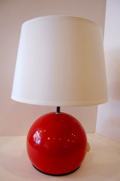 Vintage Red Ball Lamp