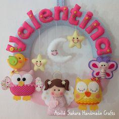 Guirlanda tema Anjinha para a Valentina