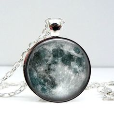 Moon Dome Pendant Necklace #Artistic, #Crafted, #HandMade, #Necklace, #Pendant