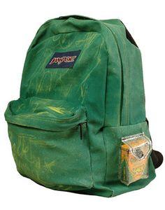 Vintage jansport leather canvas backpack bookbag bag pack made usa ...