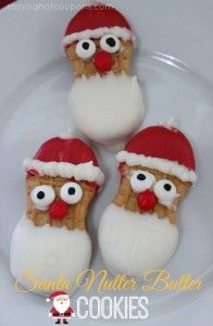 Santa nutter butter cookies - so cute
