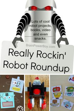 Totally Rockin' Robot Roundup of the best robot projects ever. From paper crafts, DIY robots and vibrobots to robot books and LEGO Robots! You have to see the selection! My kids loved these.