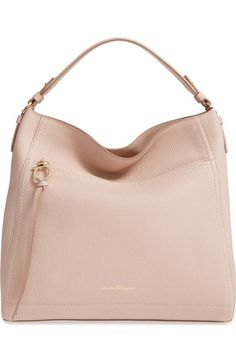 Salvatore Ferragamo Ally - Large Leather Hobo available at #Nordstrom
