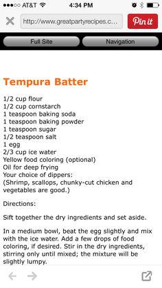 Tempura batter                                                                                                                                                                                 More