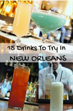 15 popular drinks to try in New Orleans.