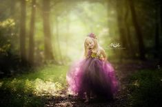 Plum Woodland Fairy Flower Girl Dress Plum by FrillsandFireflies