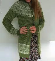 Setesdal kofte, grønn. Diy Crafts Knitting, Knitting Projects, Knitting Patterns, Knit Jacket, Knit Cardigan, Norwegian Knitting, Knit Or Crochet, Chrochet, Cardigan Design