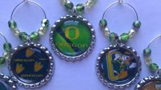 Oregon Ducks party favors or any sports team..Pick your team...we make wine charms and more..