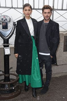 Zendaya with Zac Efron at the Empire State Building in NYC 12/9/17