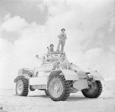 26 Sept 1942 A day in the life of a Tank soldier in the desert. AEC Mk I armoured car equipped with a gun in the Western desert, 20 September Ww2 Pictures, Ww2 Photos, Historical Pictures, Military Photos, Military History, Afrika Corps, North African Campaign, Armored Vehicles, Armored Car