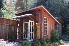 """Instead of a lame """"man cave"""", I'd like to have a building in the backyard. I like the slant roof, just not the rustic look."""