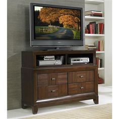 Carrie Ann Traditional Warm Cherry Wood TV Chest