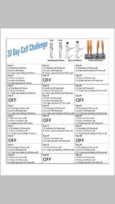 30 day calf challenge!