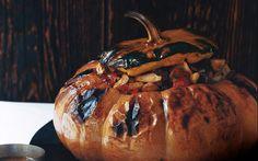 Pumpkin Stuffed with Vegetable Stew