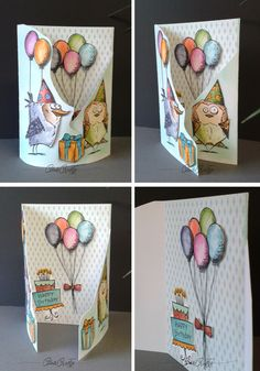 Cute Animals Eating Videos it is How To Draw Cute Animals per Crazy Cats Compilation next Cute Animals Aesthetic Tri Fold Cards, Fancy Fold Cards, Folded Cards, Crazy Bird, Crazy Cats, Crazy Animals, Wild Animals, Big Cats, Tim Holtz Stamps