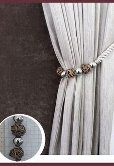 Abraçadeira p/ Cortina Pingente Luba 4085 Bedroom Drapes, Buy Shop, Curtain Tie Backs, Stylus, Antique Furniture, Tassels, Shabby Chic, Antiques, Home Decor