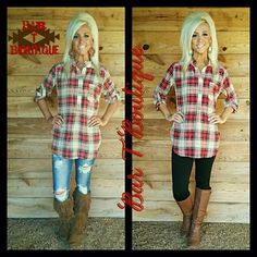 Pretty in Plaid Tunic ~ Follow @bar_t_boutique on Instagram to Shop