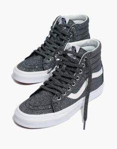 250caaa9ff Madewell Vans Unisex SK8-Hi Reissue High-Top Sneakers in Black Glitter Black  Glitter