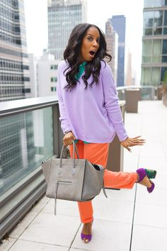 Love the color blocking happening here