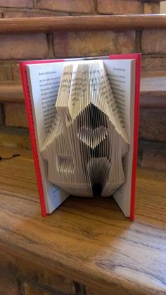 Folded Book Art - Book folded into House Design